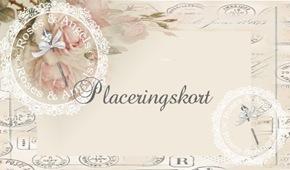 Placeringskort Romantik