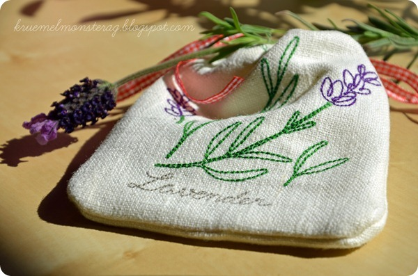 Probesticken Anja Rieger - Lavendelsäckchen