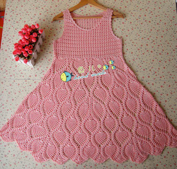 ADELINA: Vestido para niña de piñas