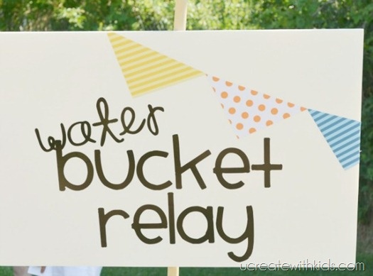 DIY Olympic Games Water Bucket Relay