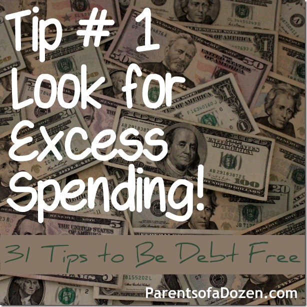 Tip 1 Look for Excess Spending