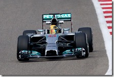Hamilton nei test in Bahrain 2014