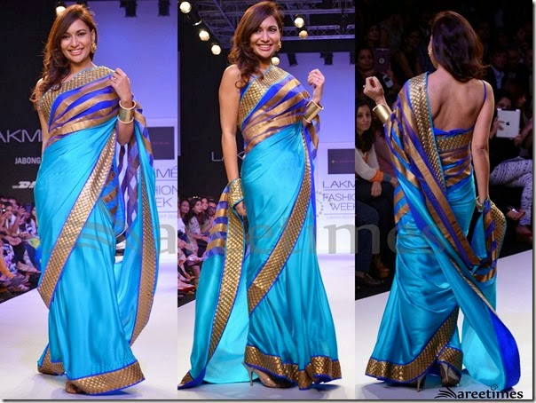 Mandira_Bedi_Blue_Saree