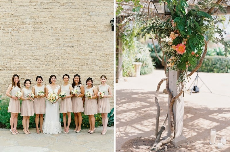 9 Oak and the Owl _ Peach Bridesmaid Dresses
