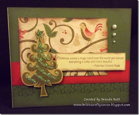 Brenda Rutt Pand P WOTG stamp set Christmas card