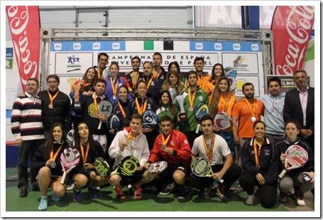 Finaliza el Campeonato de España Universitario de Pádel 2014