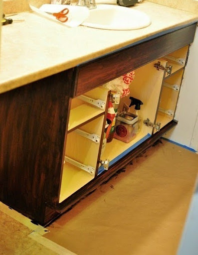 The best, most detailed tutorial for staining lighter cabinets a darker  color. She uses
