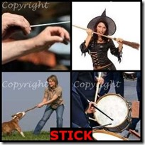 STICK- 4 Pics 1 Word Answers 3 Letters