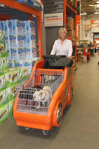 Oh boy Francesca!  Don't you just love shopping at The Home Depot?  This is such an amazing racing cart we're in!  Martha looks like she's riding a chariot!