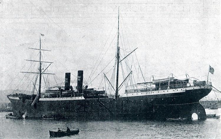 En sus primeros años el PIO IX tuvo un aparejo de bergantín y dos chimeneas. MUNDO GRAFICO. 1916.JPG