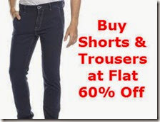 FashionAndYou: Buy Men Clothing- Jeans, Bottom Wear, Trousers and Shorts At Flat 60% OFF