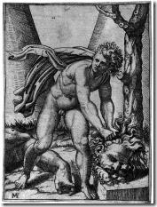 452px-Marcantonio_Raimondi_-_David_and_Goliath_-_WGA18973
