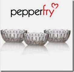 Pepperfry: Buy Yera 3 pcs Platina Bowl Set Rs.69 only
