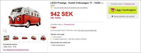 Lego 10220 Volkswagen T1 Camper Van Erbjudande Bästa pris just nu