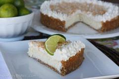 lime cheesecake slice 1