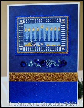 Hanukkah Glitter Card