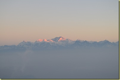Kangchenjunga dawn coming