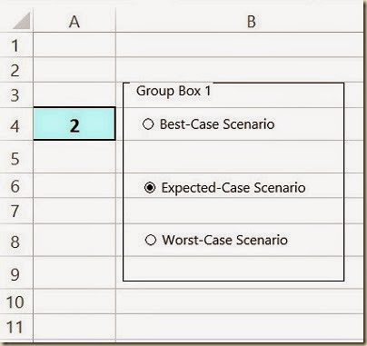 Scenario Analysis in Excel - 1st Group