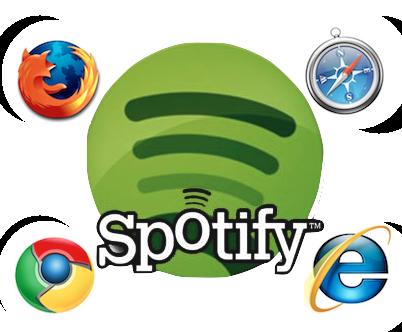 Spotify web version