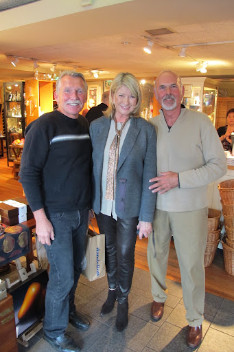 Here is Martha with Steve Fletcher and Carl Croft the owners of Dandelion.