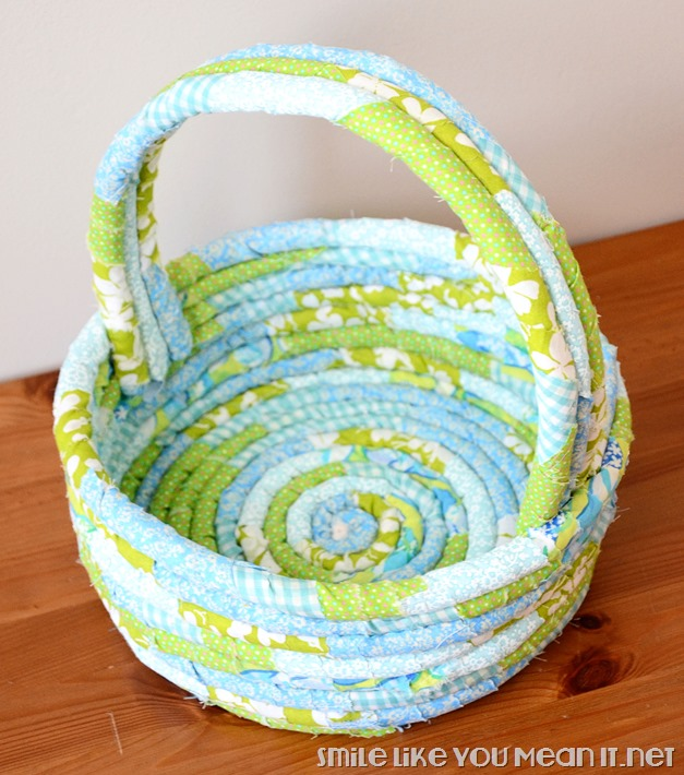Blue-Fabric-Wrapped-Coil-Easter-Basket