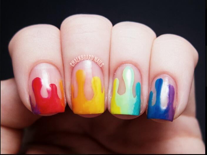 Paint Drip Nails Lizz Adams