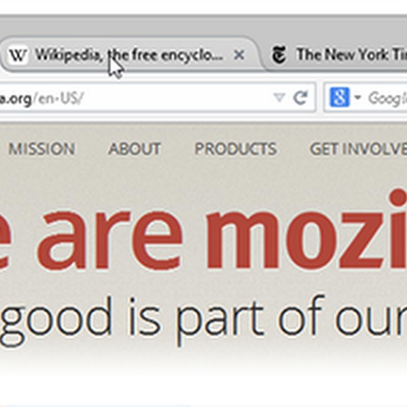 Il nuovo aspetto di Firefox: un nuovo menu a portata di mano.