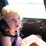 Silje i helikopter over Kerteminde