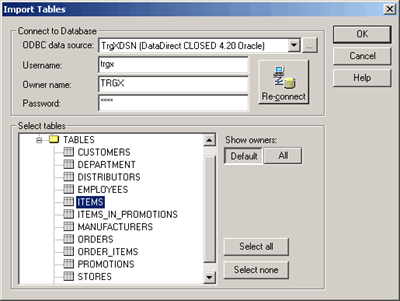 Informatica Source definition Import
