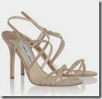 Jimmy Choo Issey Suede Nude Sandals