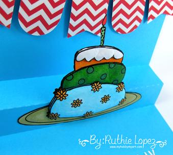 Paper Addictions. Birthday Cake. Ruthie Lopez. My Hobby My Art. 3