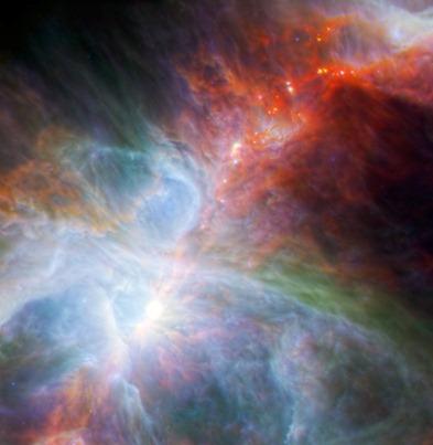 estrelas recém-nascidas em Órion