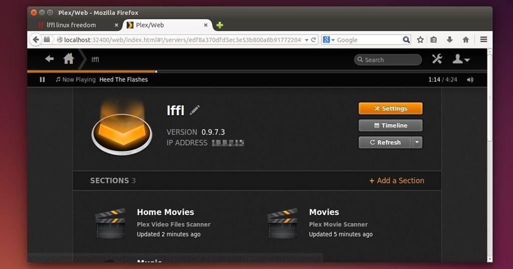 Plex Media Server in Ubuntu