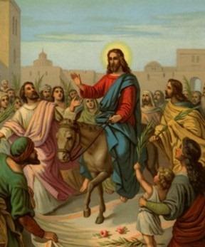No Domingo de Ramos, celebra-se a entrada de Jesus em Jerusalém, aonde vai para completar sua missão, que culminará com a morte na cruz.