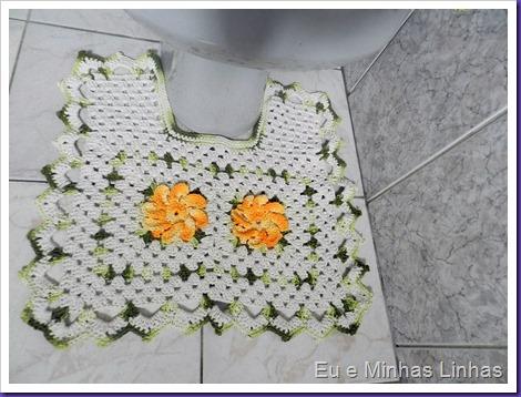 Jogo Banheiro Croche com Flor 1e