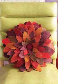 Wool Petals Pillow
