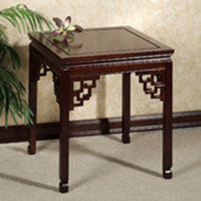 meiko fretwork end table