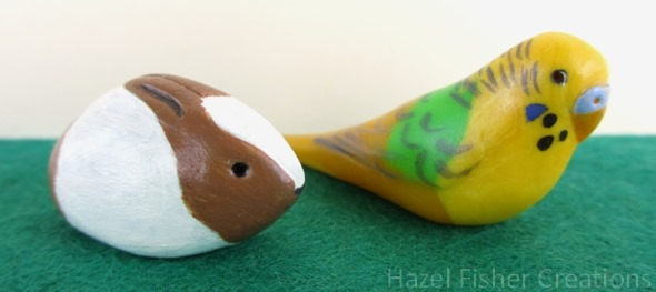 2013Aug29 Fimo rabbit and budgie 1