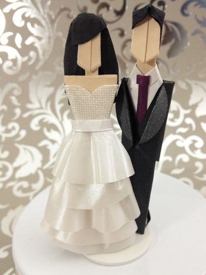 Origami Wedding Cake Toppers