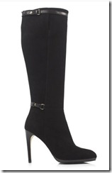 LK Bennett black suede boot