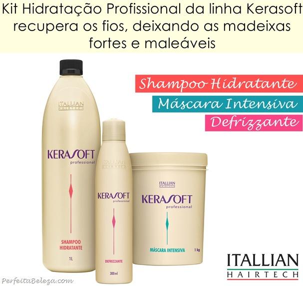 Shampoo,Máscara e defrizzante Kerasoft