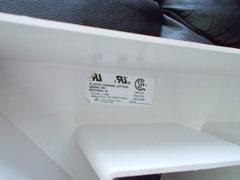 """White vintage plastic capital letter """"A"""""""
