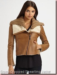 Doma Cropped Shearling Jacket