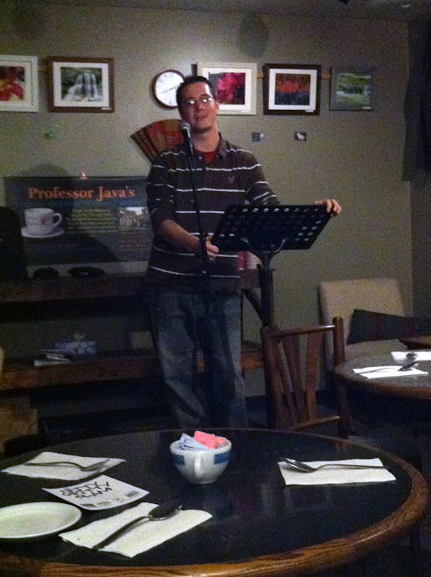 Kevin Peterson at the last Professor Java's Wide Open Mic