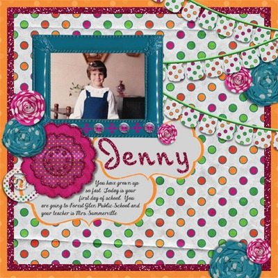 Mommy Me Time Scrapper - Too Polka Dotty - Jenny
