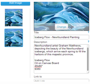 iceberg newfoundland painting