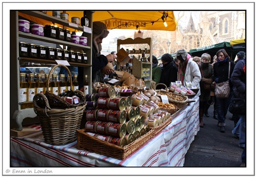 Borough Market - Kentish Pickled Mushrooms and other foods