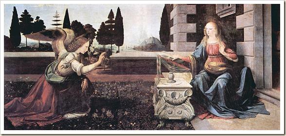 Leonardo da Vinci - Anunciación