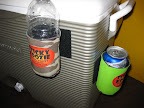 Sticky Koozie can be placed on the side of a cooler, boat, tractor, or wherever you need to keep your drink cool and handy.