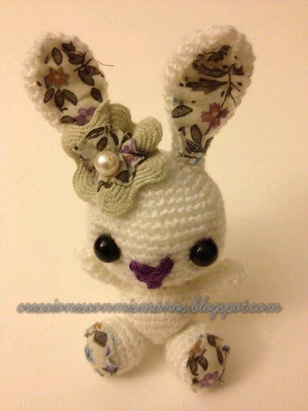 Amigurumi Conejo Kawaii : Manos de hadita conejito amigurumi